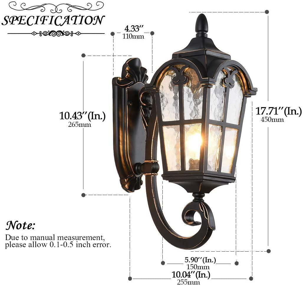 Lonedruid Outdoor Wall Light Fixtures Black Roman 17 71 H Exterior Wall Lantern For Sale Online Ebay