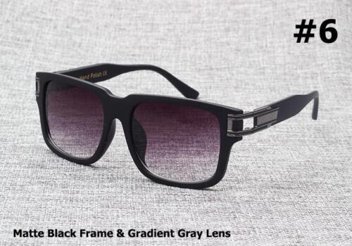Sunglasses Men Fashion Two Gradient Vintage Retro Hip Hop Style Polycarbonate