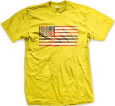 Red White and Blue Paint Splatter Flag -USA Pride America Mens T-shirt