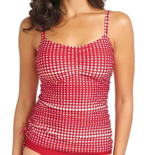 Fantasie Swimwear Denver Adjustable Side Tankini Top Rouge 5925