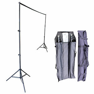Adjustable Background Photography 10Ft Support Stand Photo Backdrop Crossbar Kit