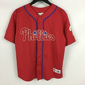 new products 05732 564f0 Details about Kids RYAN HOWARD Philadelphia Phillies RED Alt. STITCHED  Youth Jersey Med 10-12