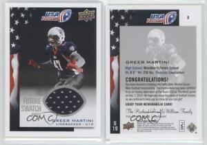best sneakers 69f20 6d27c Details about 2014 Upper Deck USA Football Jerseys Memorabilia #8 Greer  Martini Rookie Card
