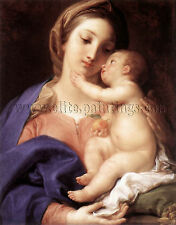 BATONI Pompeo Madonna And Child artista quadro riproduzione dipinto olio  a mano
