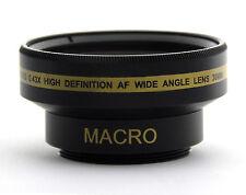 30mm .43x Wide Angle Lens + Macro for Sony Handycam DCR-SR45 HDR-SR10  HDR-SR10E