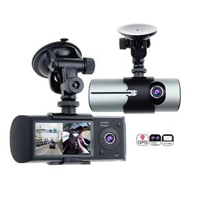 2.7/'/' LCD R300 Dual Lens Dash Vehicle Camera Car DVR GPS Camera Video Recorder