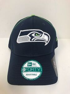 info for 187d8 dc850 Image is loading New-Era-9Forty-NFL-Seattle-Seahawks-Navy-Adjustable-