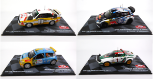 Set of 4 Model Cars 1 43 Rally Monte Carlo WRC - Volkswagen Renault Lancia Audi
