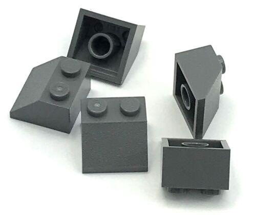 Lego 5 New Dark Bluish Gray 2 x 2 Dot Slopes Sloped Pieces
