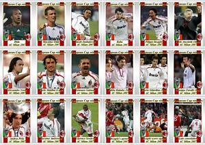 Ac Milan European Champions League Winners 2007 Football Trading Cards Ebay
