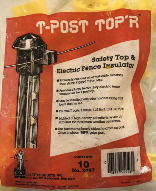 Dare T-Post Top Insulator 2027 10 Pack Poly
