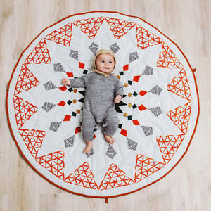 AU_ Pattern Floor Carpet Baby Cotton Crawling  Mat Kids Room Blanket Eager