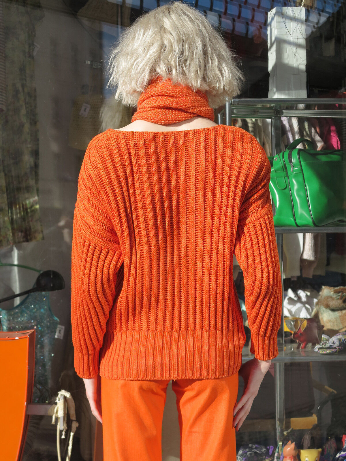 JIL SANDER Pullover con spalla imbottitura imbottitura imbottitura 80s True VINTAGE Donna JUMPER SWEATER b1958a