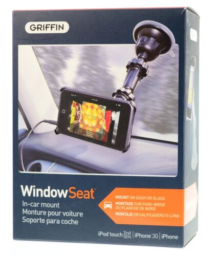 Griffin WindowSeat Windshield Mount and AUX Cable for iPhone 3G S IPod Touch