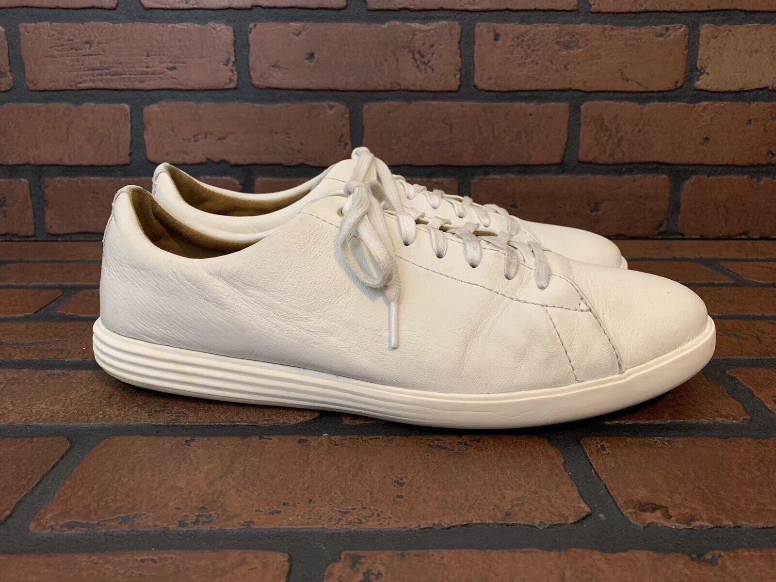 Cole Haan Grand un tamaño Zapatillas de cuero blancoo tamaño 11