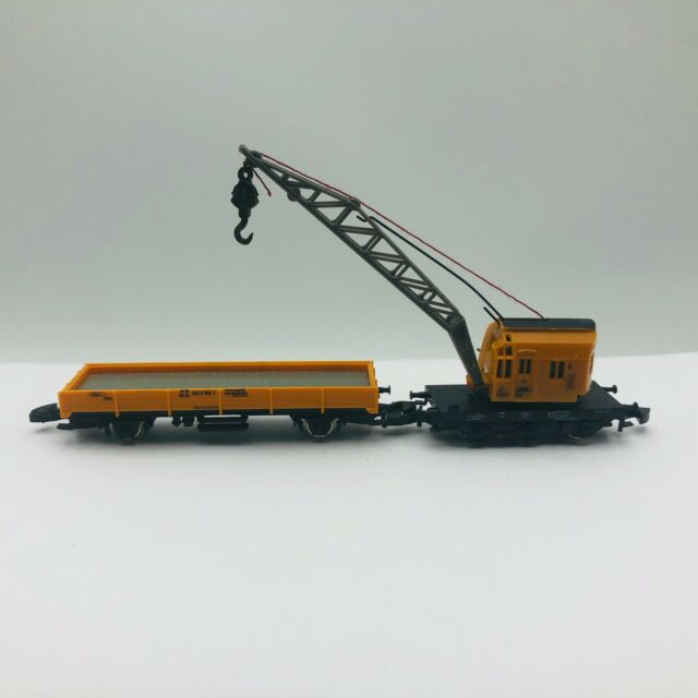 Marklin Z Scale Mini Club 8657 Crane & Low Side Car