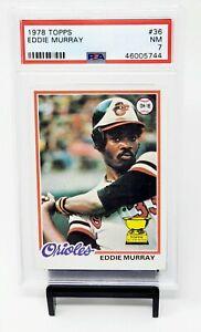 1978-Topps-RC-Baltimore-Orioles-EDDIE-MURRAY-Rookie-Baseball-Card-PSA-7-NMINT