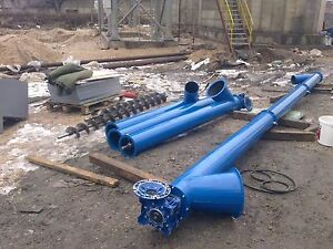 Details about Screw Conveyor Steel Auger for grain, powder, dry sawdust,  cement - 6 m, 5,5 kW