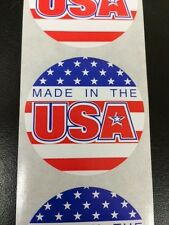 500 Made in the USA Circle Label Stickers Made in the USA eBay Labels