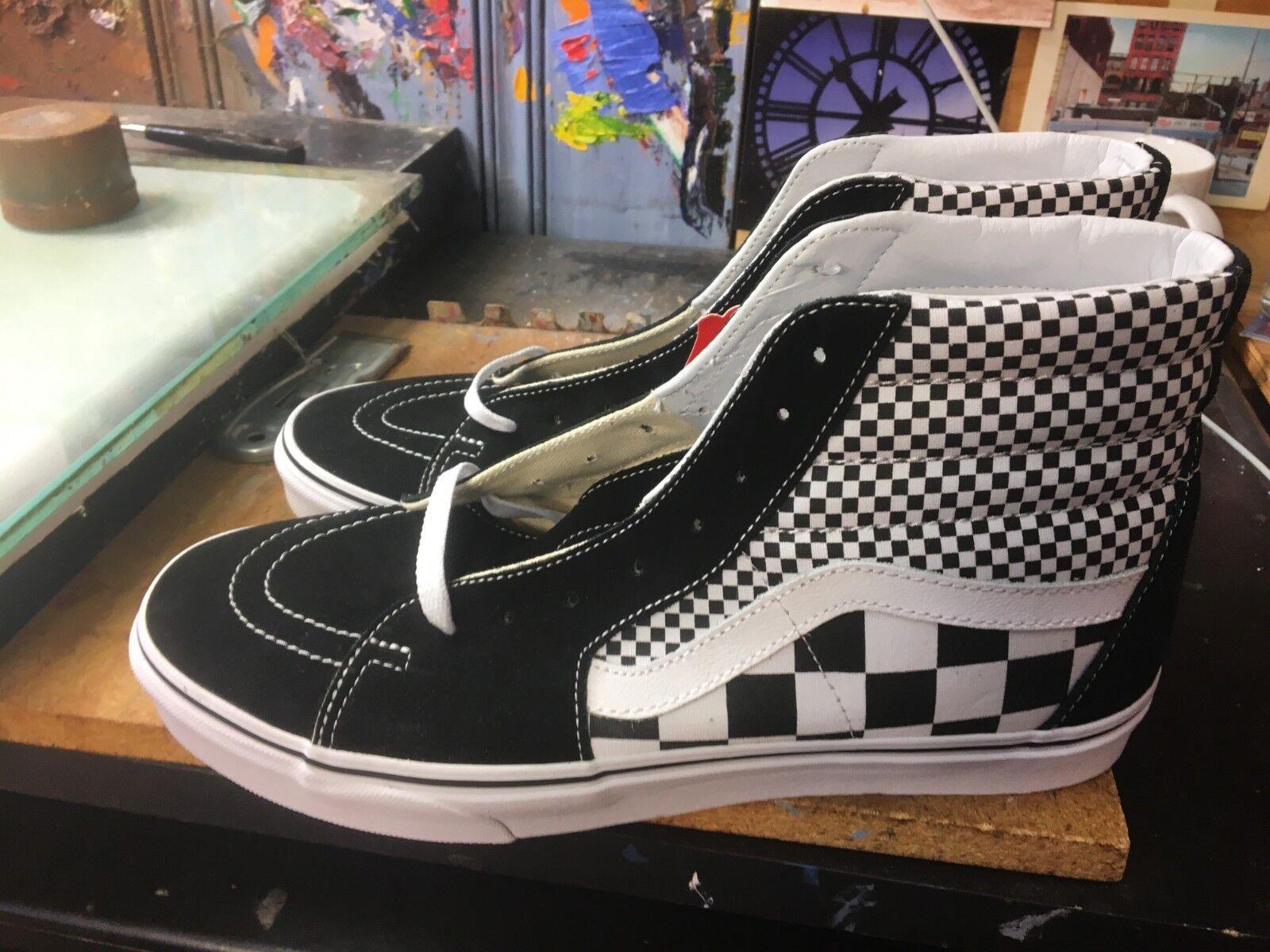 Vans SK8-Hi (mezcla Checker) Negro/Blanco Tamaño nos 13 VN0A38GEQ9B para hombres VN0A38GEQ9B 13 02bd66