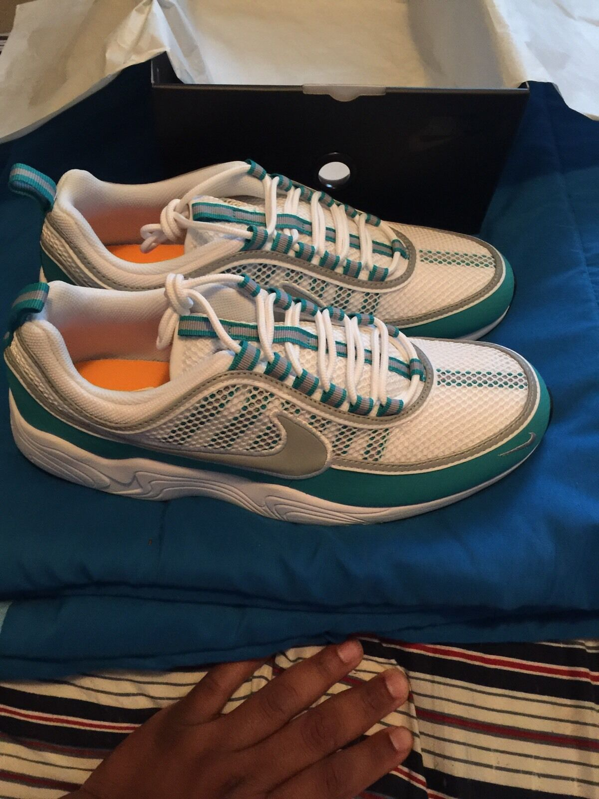 Nike Air Zoom Spiridon White/Silver/Turbo Green 11.5