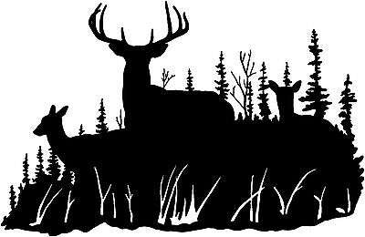 Deer In Cross Hairs Hunting Club Decal Whitetail Vinyl Hunting Stickers