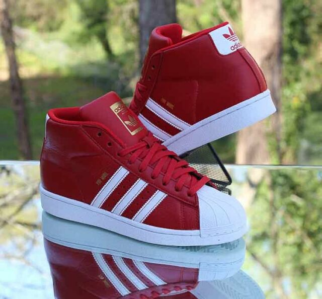 Adidas Originals Pro Model Mid Top Size 5 Scarlet Red White Gold BY3730