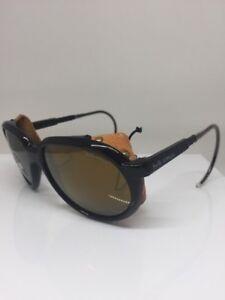280d892ab9 Details about Vintage Bolle Acrylex Sport Sunglasses Side Shields With  Cable Temples C. Black