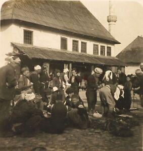 BOSNIE-Konjic-Mosque-Musulmans-Photo-Stereo-Vintage-Argentique