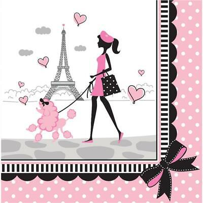 Eiffel Tower//Poodle Party In Paris Loot Bag Filler Sticker Sheets x 4