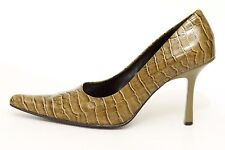 Nine West Women's Green Leather High Heels Pumps Shoes Size 6