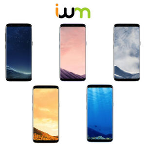 Details About Samsung Galaxy S8 64gb 128gb Black Gray Silver Gold Blue Smartphone
