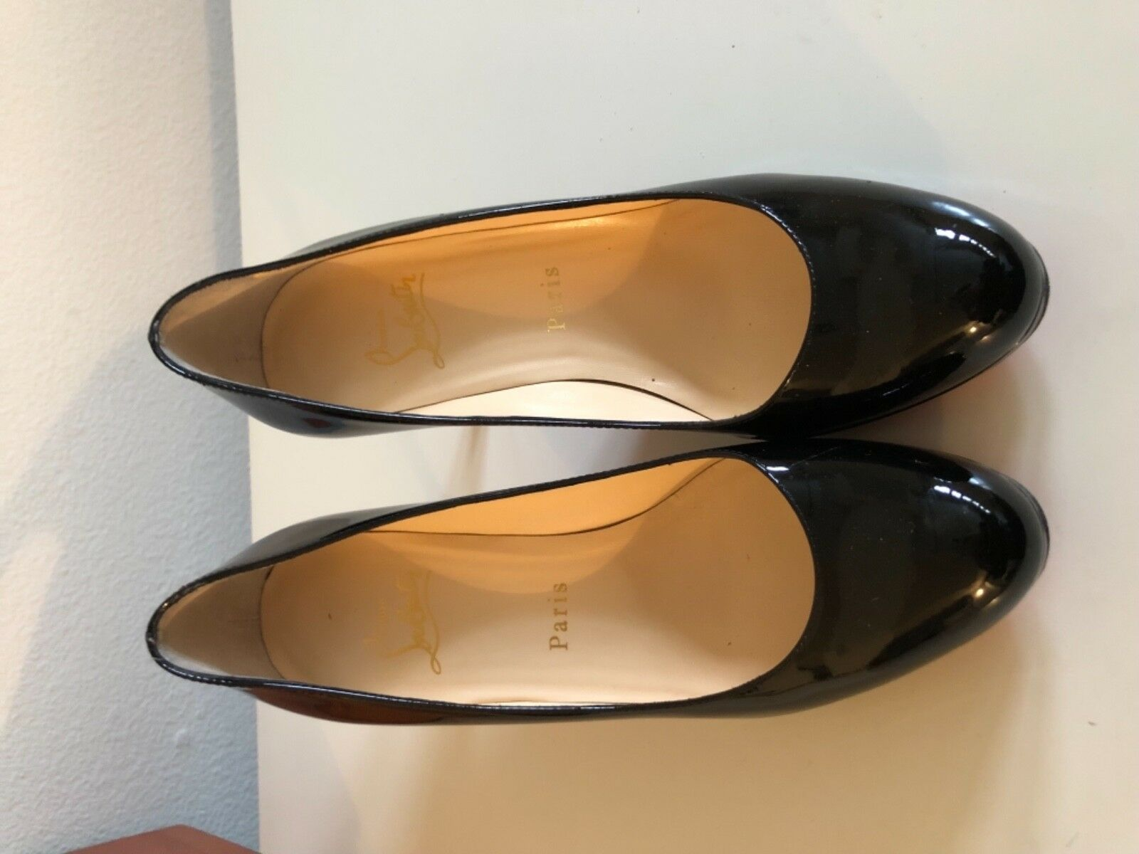 Famous Black and Red Christian Louboutin Heels Size 37