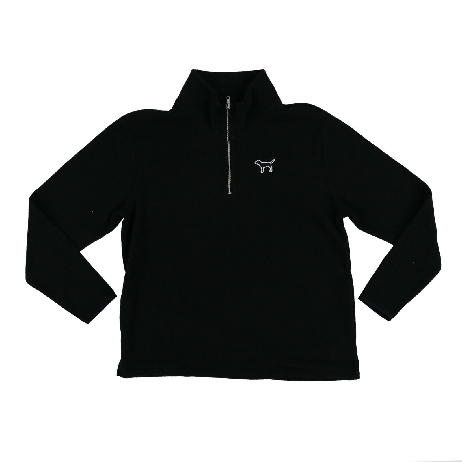 Victoria's Secret Pink Fleece Sweatshirt Sweatshirt Sweatshirt Quarter Zip Long Sleeve Logo Top New Vs 585b10