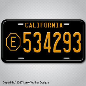 ADAM-12-LAPD-Belvedere-E-534293-Replica-Prop-Aluminum-License-Plate-Tag