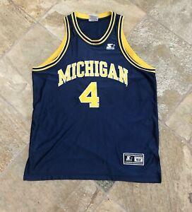 Vintage Michigan Wolverines Chris Webber College Basketball Jersey Size 52 Xl Ebay