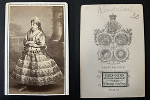 Celine-Montaland-actrice-Vintage-albumen-print-CDV-Tirage-albumine