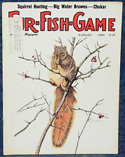 Magazine *Fur-Fish-Game* AUGUST, 1982 !! SQUIRREL HUNTING, BIG WATER BROWNS !!