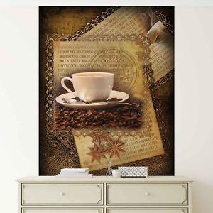 Details zu Tapete Vlies Fototapete Küche Kaffee Bohnenkaffee Anissterne  Cappuccino London