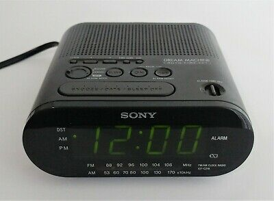 Honest Sony Dream Machine Am/fm Alarm Clock Radio Model Icf-c218 Black Providing Amenities For The People; Making Life Easier For The Population Home & Garden Home Décor
