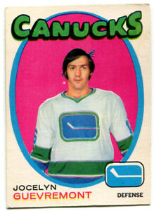 1971-72 OPC Jocelyn Guevremont Card #232 Vancouver Canucks