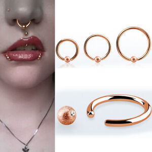 16g Helix Nose Ring Hoop Steel Ball Closure Cuff Frosted 3m Ball