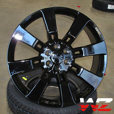 "20"" CV82 Style Gloss Black Wheels fits GMC Chevy Yukon Sierra Suburban Denali"