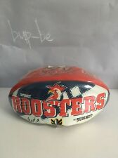 2001 Summit Sydney Roosters Rugby Ball!  Nrfp! Nos! What A Team!  Full Size!