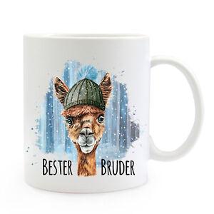 Tassen Sinnvoll Tasse Becher Lama & Spruch Bester Bruder Kaffeebecher Teepott Geschenk Ts865 StäRkung Von Sehnen Und Knochen