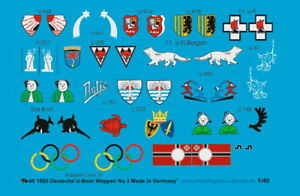 Peddinghaus-decals-1-40-1605-Allemand-sous-Marins-Conningtower-Markings-N-3