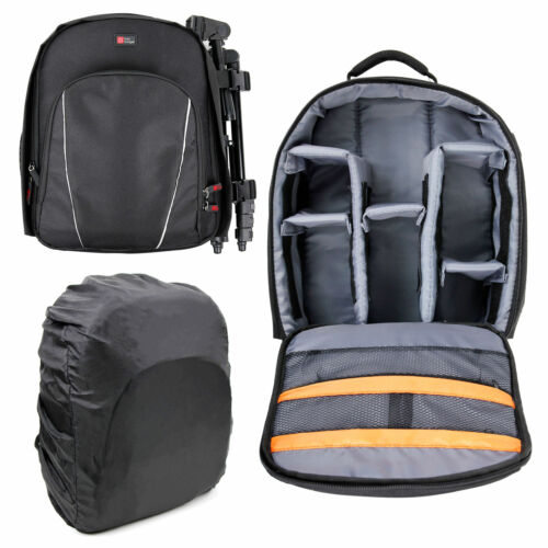 Black Compact Backpack w// Rain Cover for Amazon Echo Look Camera