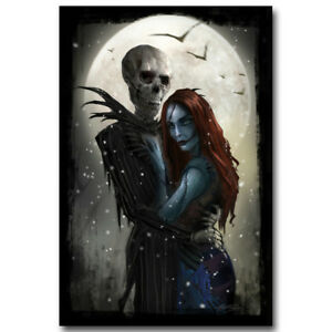 the nightmare before christmas movie art canvas poster prints 8x12