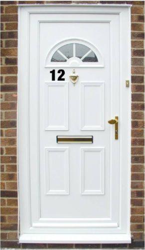 3//4//5//6//8 inch sticky numbers wheelie bin house door  car workshop office