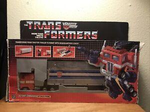 Transformers G1 Vintage Optimus Prime In Box Ceji Blue Foot #3